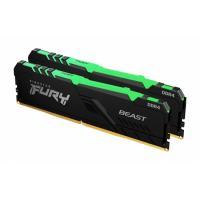 Оперативная память 16GB KIT (2X8GB) DDR4 3200MHz Kingston FURY Beast RGB (KF432C16BBAK2/16)